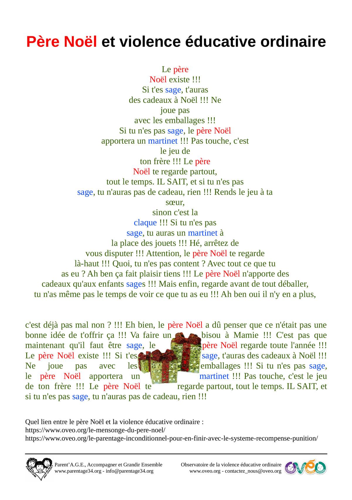 Affichette Noël sapin